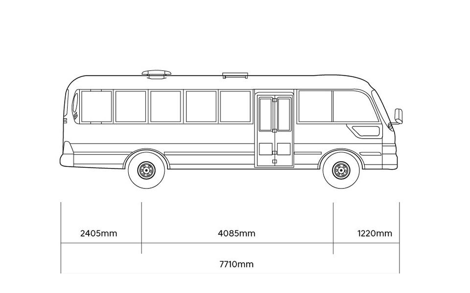 county bus dimension 1